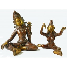 Couple Tantrique - Shakti Medium (19 cm) Mordoré
