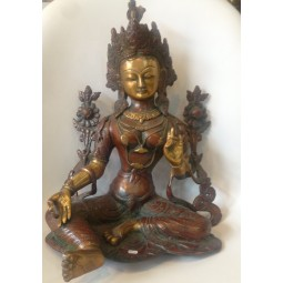 Tara Verte Bronze 37cm Bronze Antique