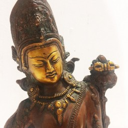 Statue Indra Tantrique - (25cm) Bronze Antique